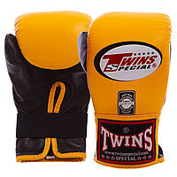 Снарядные перчатки кожаные TWINS (р-р M-XL, цвета в ассортименте)