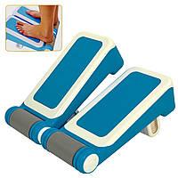 Доска для стретчинга Pro Supra STRETCH BOARD (пластик, р-р 35,5x34см, 7 углов наклона, синий-белый)