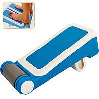 Доска для стретчинга Pro Supra STRETCH BOARD (пластик, р-р 35,5x17см, 7 углов наклона, синий-белый)