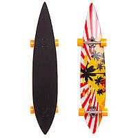 Лонгборд Круизер (скейтборд в сборе) (колесо-PU, р-р деки 117x22,5см, АВЕС-7, цвета в асортименте)