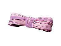 Рафия искусственная двухцветная — Розовый + сиреневый, моток 5 метров
