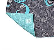 """Евро комплект (Бязь)   Постельное белье от производителя """"Королева Ночи""""   Завитки на темном и голубом, фото 4"""
