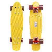 Скейтборд пластиковый Penny SWIRL FISH 22in колесо мультиколор (желт-оранж-зел)