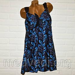Темно-синий купальник платье 74 размер, танкини с 66 по 74
