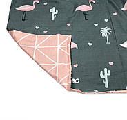 """Семейный комплект (Бязь)   Постельное белье от производителя """"Королева Ночи""""   Кактусы и фламинго на темном, фото 4"""