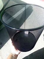 Корзина для бумаг металлическая круглая черная 08225 (29х33см)