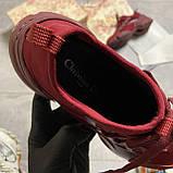 🔥 ВИДЕО ОБЗОР🔥 Christian Dior D-connect Диор Кристиан Д Коннект Красный 🔥 Диор женские кроссовки 🔥, фото 7