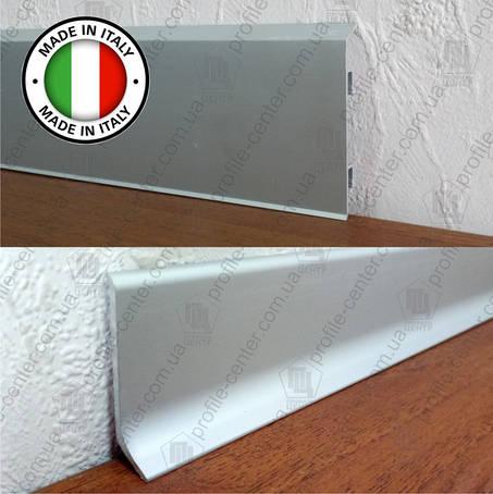 Накладной плоский алюминиевый плинтус Profilpas Metal Line