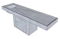 Стол для вскрытия с ванной штампованной на тумбе СДВВШТ
