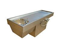 Стол для вскрытия с ванной штампованной на тумбе ССА