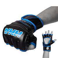 Перчатки для MMA PowerPlay 3055 черно-синие S, фото 1
