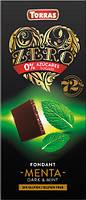 Черный шоколад без сахара и глютена Torras ZERO with mint с мятой 100 г Испания