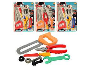 Набор инструментов пила, отвертка/плоскогубцы, ключ, на листе 21,5х31,5х2см. С88-4 (192)