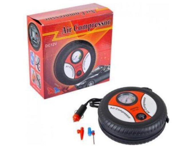 Компрессор для шин в машину Air Compressor 17,5х7см., 12В, кабель 2м. 260PSI (24)
