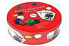 Набор для игры в покер в метал. упаковке (240 фишек+2 колоды карт+полотно) I3-98, фото 4