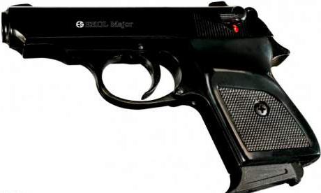 Пистолет Макарова стартовый черный EKOL