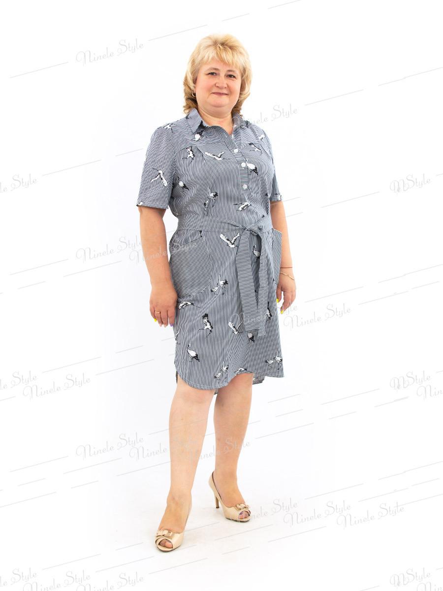 Платье рубашка 478--1 54