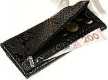 Женский кошелек Butun 567-008-039 кожаный черный, фото 3