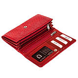 Женский кошелек Karya 1088-019 кожаный красный, фото 5