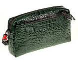 Женская сумка кожаная кросс-боди Eminsa 40125-4 зеленая, фото 2