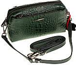 Женская сумка кожаная кросс-боди Eminsa 40125-4 зеленая, фото 3