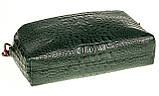 Женская сумка кожаная кросс-боди Eminsa 40125-4 зеленая, фото 4