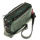 Женская сумка кожаная кросс-боди Eminsa 40125-4 зеленая, фото 5