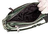 Женская сумка кожаная кросс-боди Eminsa 40125-4 зеленая, фото 6