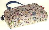 Женская сумка кожаная кросс-боди Eminsa 40125-2 голубые цветы, фото 4