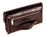 Мужская сумка барсетка кожаная коричневая Karya 0696-57, фото 2