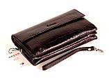 Мужская сумка барсетка кожаная коричневая Karya 0696-57, фото 3
