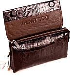Мужская сумка барсетка кожаная коричневая Karya 0696-57, фото 5