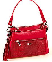 Женская сумка Karya 2134-018 кожаная красная