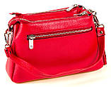 Женская сумка Karya 2134-018 кожаная красная, фото 3