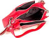Женская сумка Karya 2134-018 кожаная красная, фото 7
