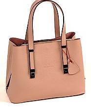 Женская сумка из натуральной кожи Eminsa 40190-37-31 пудровая
