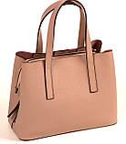 Женская сумка из натуральной кожи Eminsa 40190 розовая пудра, фото 2