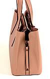 Женская сумка из натуральной кожи Eminsa 40190 розовая пудра, фото 4