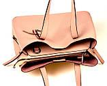 Женская сумка из натуральной кожи Eminsa 40190 розовая пудра, фото 6