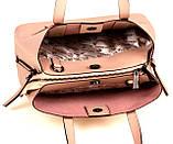 Женская сумка из натуральной кожи Eminsa 40190 розовая пудра, фото 7