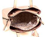 Женская сумка из натуральной кожи Eminsa 40190 розовая пудра, фото 8