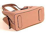 Женская сумка из натуральной кожи Eminsa 40190 розовая пудра, фото 9
