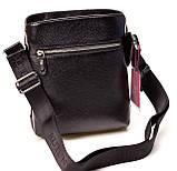 Мужская сумка через плечо BUTUN 434-004-001 из натуральной кожи черная, фото 2
