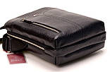 Мужская сумка через плечо BUTUN 434-004-001 из натуральной кожи черная, фото 3