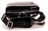 Мужская сумка через плечо BUTUN 434-004-001 из натуральной кожи черная, фото 4
