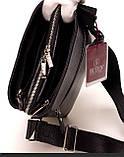 Мужская сумка через плечо BUTUN 434-004-001 из натуральной кожи черная, фото 5