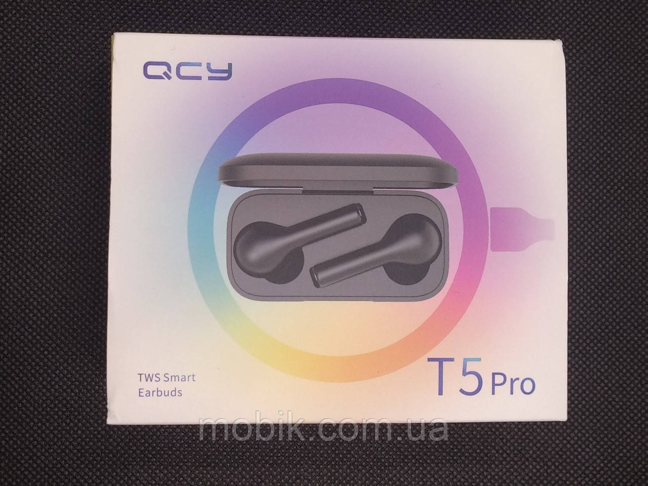 T5Pro Наушники беспроводные TWS черные Xiaomi QCY T5 Pro black Bluetooth