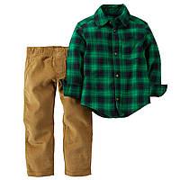 Комплект для мальчика 2в1 рубашка и штанишки Картерс