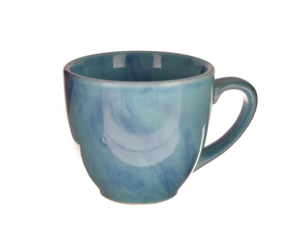 """Чашка 200 мл Кофейная радуга голубая (6 шт) """"Полигенько"""""""