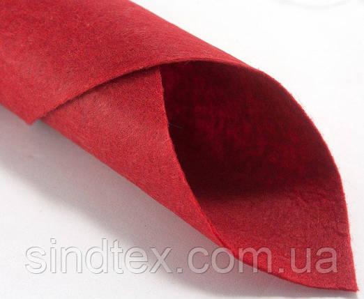 Фетр 1мм жесткий 20х25 см  Цена за 1 лист. Цвет - красный (сп7нг-0131), фото 2